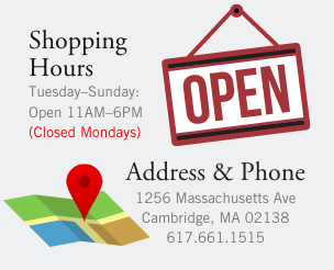 Hours & Directions: Tuesday through Sunday, 11AM to 6PM